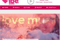 Pagina principala a site-ului Vibe FM